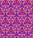 Psychedelic abstract colorful violet red cream seamless pattern Stock Photography