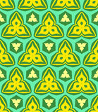 Psychedelic abstract colorful yellow green seamless pattern Royalty Free Stock Image