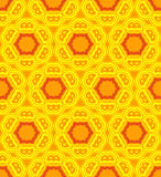Psychedelic abstract colorful yellow orange seamless pattern Royalty Free Stock Photos