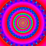 Psychedelic, abstract mandala pattern Stock Images