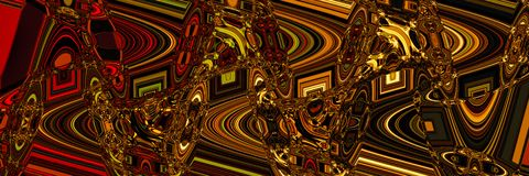 Psychedelic abstract panoramic background for design stock photo