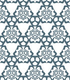 Psychedelic abstract stars monochrome seamless pattern Stock Photos