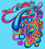 Psychedelic Abstract Vector Illustration. Retro 60s Groovy Psychedelic Abstract Vector Illustration stock illustration