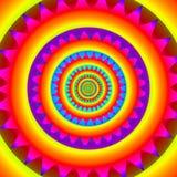 Psychedelic abstrakt bakgrund - retro stil Arkivfoto