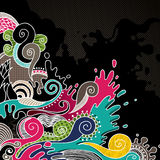 Psychedelic background Royalty Free Stock Photo