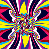 Psychedelic background. Psychedelic twisted  background. Abstract seamless pattern Stock Image