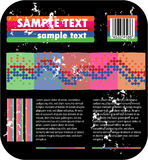 Psychedelic background and barcode Stock Photos