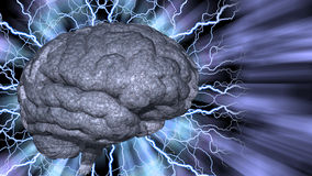 Psychedelic background brain Stock Photo