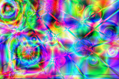 Psychedelic background. Colorful psychedelic background. Raster illustrations Royalty Free Stock Image