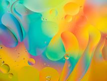 Psychedelic background with oil and water royalty free stock photos