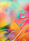 Psychedelic background with oil and water Royalty Free Stock Image