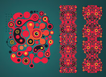 Psychedelic background and  pattern. Royalty Free Stock Image
