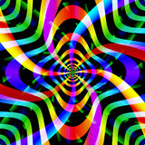 Psychedelic background with spinning shapes Royalty Free Stock Image