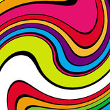 Psychedelic background. Vector colorful background, flashy and pop Stock Photos