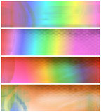 Psychedelic Banners or Headers Stock Photos