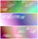 Psychedelic Banners or Headers Royalty Free Stock Image