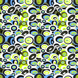 Psychedelic beads vector illustration seamless pattern Royalty Free Stock Photo