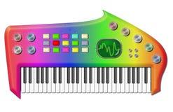 psychedelic bisarrt tangentbord royaltyfri illustrationer