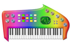 Psychedelic Bizarre Keyboard Stock Images
