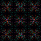 Psychedelic black  abstract fractal background Stock Image
