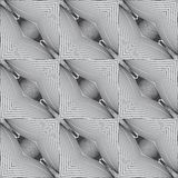 Psychedelic black and white linear pattern Stock Photography