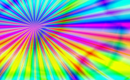 Psychedelic Blast. Bright and vivid burst of psychedelic rainbow of colors in a tie dye blast of the past theme background vector illustration