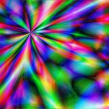 Psychedelic Blast. Vivid bright burst of a psychedelic rainbow of colors in a tie dye blast of the past theme background Stock Images