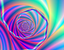 Psychedelic blue fractal spiral Royalty Free Stock Photos