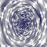 Psychedelic blue silver star tunnel background Stock Photo