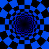 Psychedelic blue tunnel Stock Photos