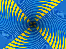 Psychedelic blue and yellow abstract background 2 Royalty Free Stock Photos