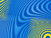 Psychedelic blue and yellow abstract background 3 Royalty Free Stock Photo