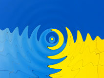 Psychedelic blue and yellow abstract background Royalty Free Stock Image