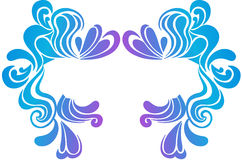 Psychedelic Border Vector Illustration. Psychedelic Swirly Border Crest Vector Illustration eps Stock Image