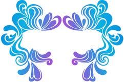 Psychedelic Border Vector Illustration. Psychedelic Swirly Border Crest Vector Illustration eps stock illustration