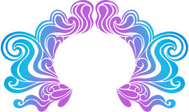 Psychedelic Border Vector Illustration. Psychedelic Swirly Border Crest Vector Illustration eps Royalty Free Stock Images
