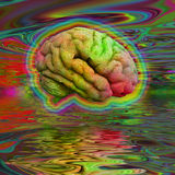Psychedelic Brain Stock Images
