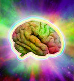 Psychedelic Brain Stock Photo