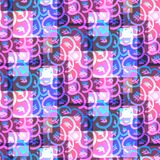 Psychedelic bright pink and blue glitter pattern royalty free illustration