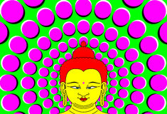 Psychedelic Buddha with moving background Royalty Free Stock Photo
