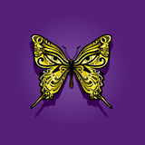Psychedelic butterfly Royalty Free Stock Images