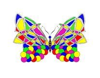 Psychedelic Butterfly Stock Photo