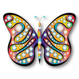 Psychedelic Butterfly Stock Photography