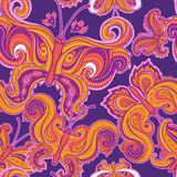 Psychedelic butterfly seamless pattern Royalty Free Stock Photography