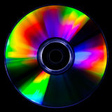 Psychedelic CD. Satured colors for this CD photography on black background Stock Photo