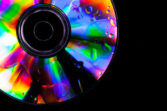 Psychedelic CD. Bright colors for this CD with oil drops on the surface Stock Images