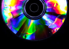 Psychedelic CD. Vibrant colors for this CD with oil drops on the surface Royalty Free Stock Photos