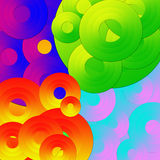 Psychedelic circles Stock Images