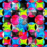Psychedelic circles abstract geometric background Royalty Free Stock Photography