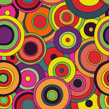 Psychedelic circles seamless pattern Stock Images